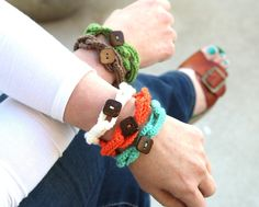 Crochet Chain Bracelet www.hipsterrow.com