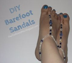 The Thriftiness Miss: Easy Beaded Barefoot Sandals