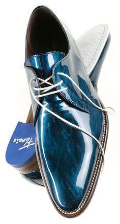 Floris van Bommel Metallic Blue www.vanbommelscho... #Florisvanbommel #vanbommelschoenen