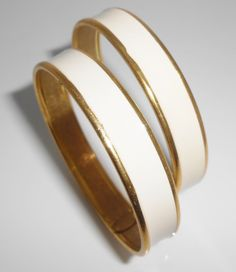 Miriam Haskell Bangle Bracelets Set Of Two by Libbysmomsvintage