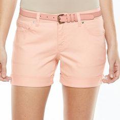 Apt. 9® Modern Fit Cuffed Jean Shorts - Women's