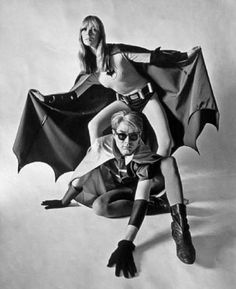 Nico and Andy Warhol as Batman and Robin for Esquire, 1967.