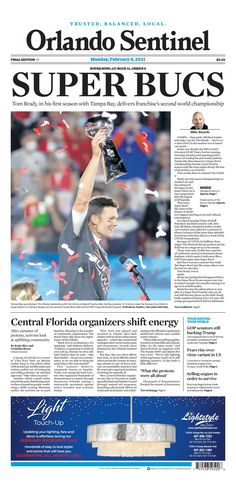 Orlando Sentinel Top News Stories, New Orleans Pelicans, Tampa Bay Buccaneers, New York Post, Tom Brady, New Orleans Saints, Second World, Central Florida