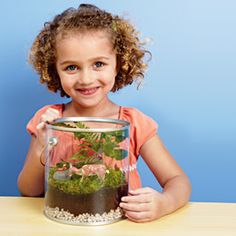 Bring the outdoors in with this tiny terrarium.