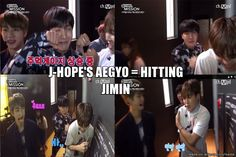 Jhope's way of secretly hitting Jimin