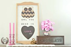 Valentine Mantel {and thrifty treasure DIY} - DIY Show Off ™ - DIY Decorating and Home Improvement Blog
