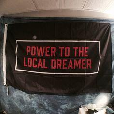 Power To The Local Dreamer Twenty One Pilots Flag by BuddyRushArt