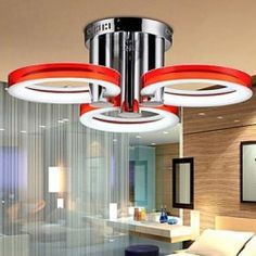 18 Modern/Contemporary LED / Bulb Included Chrome Metal Chandeliers / Flush Mount Living Room / Bedroom / Study Room/Office