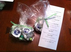 """""""Mint Bag.""""  We handed these out to all our VBS volunteers on the last day Thanks for your commit-""""mint. """", encourage-""""mint"""", involve-""""mint,  invest-""""mint"""", making each day an enjoy-""""mint"""". helping to  create a nice environ-""""mint"""". Everything you have done has really """"mint"""" a lot"""