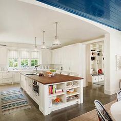 Polished Concrete Floor, Transitional, kitchen, Dillon Kyle Architecture
