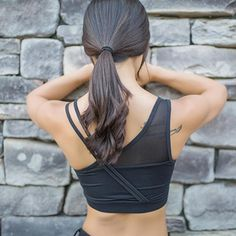 323bc6ada3d5d 2017 Mesh Sports Bra Sexy Quick Dry Features Built Into The Bra. Gym  TopsTank TopsYoga ...