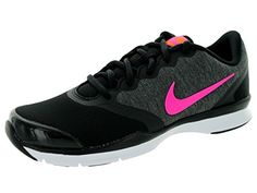newest 9fbc0 eb6c6 Amazon.com   Nike Women s In-Season TR 4 Black Pink Pw Clssc Chrcl Ttl Orn  Training Shoe 9.5 Women US   Fitness   Cross-Training. Nike Damer