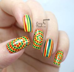 Bring on the summer! Fun nail art design with OPI Brazil plus video tutorial on dotted spiral