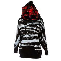 I want - Abbey Dawn Black Zipper Hoodie Scene Outfits, Grunge Outfits, Grunge Fashion, Cool Outfits, Gothic Jackets, Abbey Dawn, Tokyo Street Style, Harajuku Girls, Japanese Street Fashion