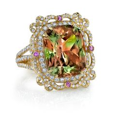 The stone I want: Zultanite. Only comes from a mine in Turkey and is different colors depending on the light (sunlight - green, candlelight - rose, artificial light - yellow, and other variations). Can be purchased as a stone and set in any ring you want.
