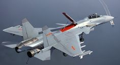 """Chinese carrier based Shenyang J-15 Flying Shark multi-role fighter. Reverse engineered from Russian Sukhoi Su-33 """"Flanker"""",with some indigenous weapons systems."""