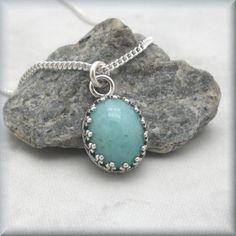 Amazonite Cabochon Gemstone Necklace