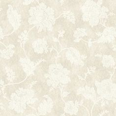 Jacobean Trail Pearl and White Wallpaper