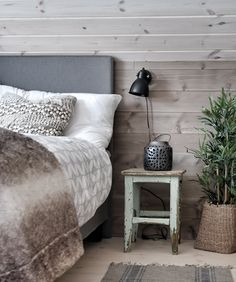 Ski Chalet, Forest House, Cottage Interiors, Nightstand, Cabin, Bedroom, Furniture, Home Decor, Style