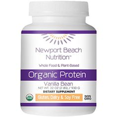 Organic Protein Powder Whole Food PlantBased Vanilla Bean Dietary Supplement 2 LBs ** Visit the image link more details. Brain Nutrition, Proper Nutrition, Nutrition Tips, Organic Supplements, Protein Supplements, Organic Protein Powder, Oil Painting For Beginners, Plant Protein, Organic Plants