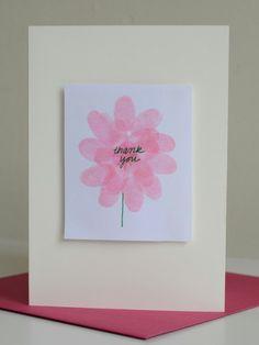 Finger Print Art Flowers // willowday