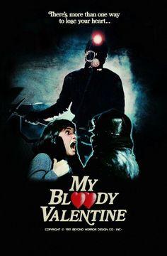 My Blood Valentine Retro Horror, Vintage Horror, Horror Art, Horror Cartoon, Horror Photos, Horror Movie Posters, Movie Poster Art, Cinema Posters, Valentines Movies