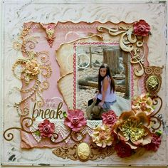 #papercrafting #scrapbook #layout idea: Gorgeous #scrapbook #layout !So Shabby Chic