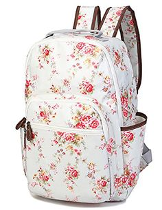 Designer Clothes, Shoes & Bags for Women Vintage Backpacks, Cute Backpacks, Girl Backpacks, School Backpacks, Shoulder Backpack, Backpack Purse, Canvas Backpack, White Backpack, Floral Backpack