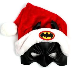 Batman Santa Hat. I'm doing this to Jeff's Batman cowl for Christmas.