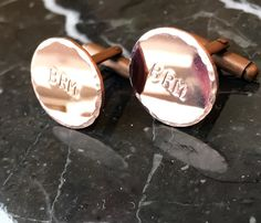 Personalized Cuff Links Copper Brass Gold by BlueCornerCreasigns