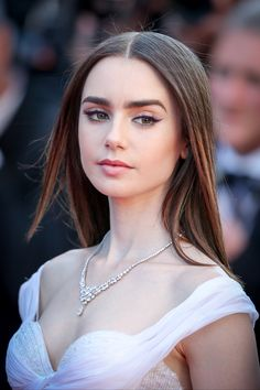 """Lily Collins at the premiere of """"Okja"""" at the 2017 Cannes Film Festival"""