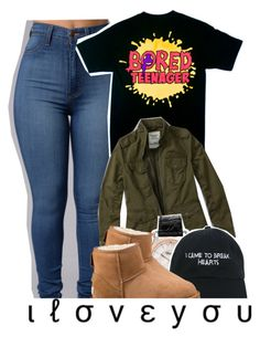 """""""i really haven't been feeling it lately, and i feel like my sets are trash, honestly."""" by raeebabyy ❤ liked on Polyvore featuring Abercrombie & Fitch, Chopard, Nasaseasons and UGG"""
