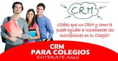 Publicación sobre los beneficios de contar con un CRM para tu Colegio o Institución educativa. http://consultoriaparacolegios.com/es-necesario-un-crm-en-mi-instituto-o-colegio-para-generar-mas-inscripciones/ #MarketingEducativo