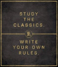 Study the greats. Be greater.