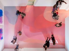 For his latest exhibition, 'Freiburg School,' at the Museum für Neue Kunst in Freiburg, Germany, artist Peter Zimmermann has covered the 1,400-square-foot gallery floor with vibrantly colored resin.