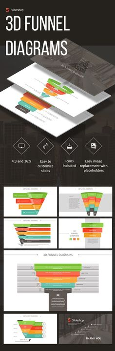 3D Funnels — Powerpoint PPTX #stages #presentation • Download ➝ https://graphicriver.net/item/3d-funnels/19691799?ref=pxcr