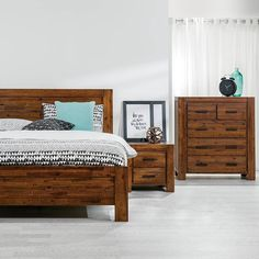 Create a warm and earthy #bedroom with the 'Bisbee' 4 piece bedroom suite. Currently on sale for $1599  receive a free Innerspring Mattress. #interiordesign #homedecor #bedroominspo #interiorstyling #bedroomliving