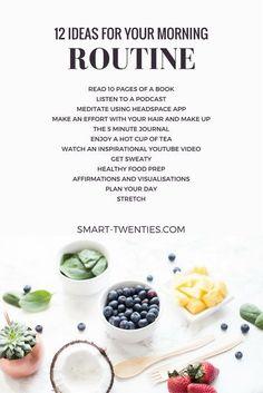 ¿Quieres crear un hábito diario saludable o replicar los hábitos de la gente exitosa? ¡Una rutina fácil de la mañana es la manera perfecta de comenzar! Obtenga consejos y consejos relacionados para crear su rutina matutina personalizada. No te olvides, sólo toma 21 días para hacer un hábito!