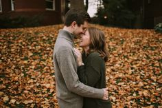 Lafayette Square fall engagement photos, St. Louis wedding photographer