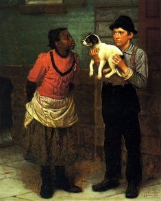 """""""The New Puppy"""" -- by John George Brown (1831 – 1913, English-born American)"""