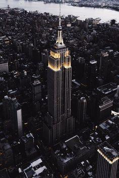 city, new york, and black image