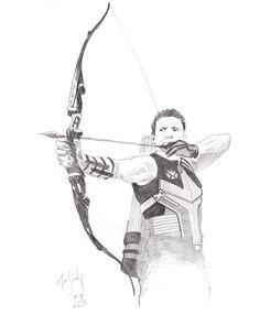 Jeremy Renner as Hawkeye in The Avengers, 2015