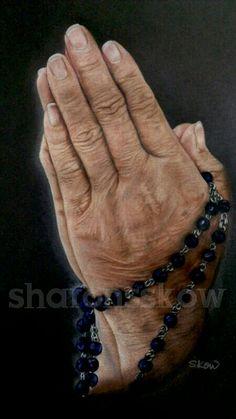 """A mother's prayer""  Faber-Castell Polychromos"