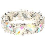 AB Aurora Crystal Bracelet Elegant Bridal Wedding Jewelry