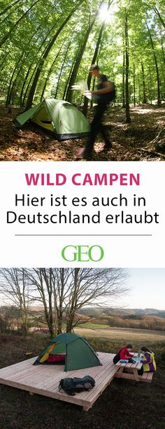 Camping in Germany: wild camping is Camping in Deutschland: Da ist Wildcampen erlaubt Wild camping in Germany: Away from the campsites, official overnight accommodations invite you to enjoy nature. We present all trekking sites in Germany in the article - Bushcraft Camping, Camping Survival, Camping Checklist, Camping Essentials, Go Camping, Camping Hacks, Camping Site, Travel Hacks, Luxury Camping