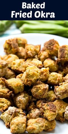 Baked Fried Okra – Skinny Southern Recipes – Famous Last Words Side Dish Recipes, Vegetable Recipes, Vegetarian Recipes, Healthy Recipes, Healthy Southern Recipes, Oven Recipes, Vegetarian Cooking, Veggie Food, Recipes Dinner