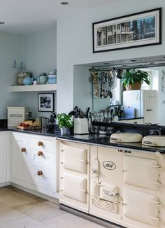 Kitchen with an AGA {that stove! *swoon*}