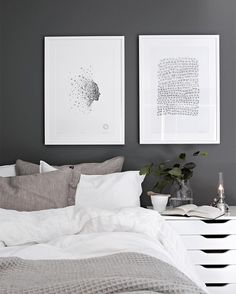Scandinavian Bedroom Design Scandinavian style is one of the most popular styles of interior design. Although it will work in any room, especially well . Decoration Bedroom, Home Decor Bedroom, Diy Home Decor, Wall Decor, Scandinavian Bedroom, Scandinavian Style, Nordic Style, Gray Bedroom, Bedroom Wall