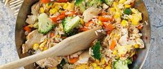 Easy Chicken & Vegetable Fried Rice recipe from Food in a Minute Vegetable Fried Rice, Fried Vegetables, Chicken And Vegetables, Rice Recipes, Chicken Recipes, Cooking Recipes, Recipies, Sweet Chilli Sauce, How To Cook Eggs