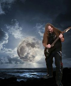 #Formy #Guitar #Night #Moon #Sea